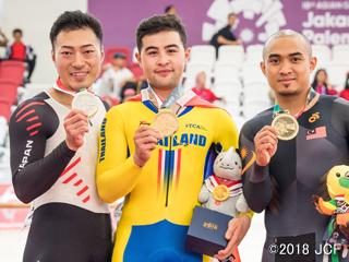 アジア大会・新田祐大選手が男子ケイリンで銀メダル!