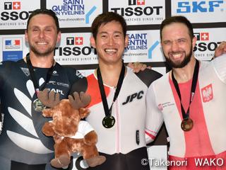 トラックワールドカップ・脇本雄太選手が男子ケイリンで金メダル!