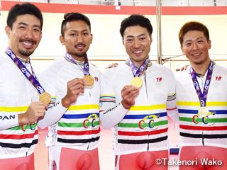 アジア選手権・男子チームスプリントで金メダル獲得!