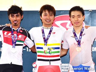 アジア選手権・男子オムニアムで橋本英也選手が金メダル!