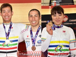 アジア選手権・ケイリンで脇本雄太選手・小林優香選手が金メダル!