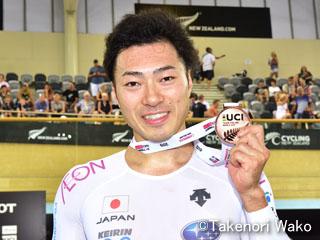 トラックワールドカップ・男子ケイリンで新田祐大選手が銅メダル!